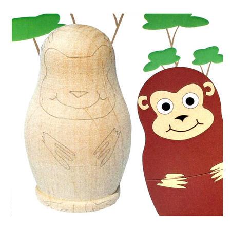 Painta Pet Monkeys - Paint Your Own Russian Doll Set