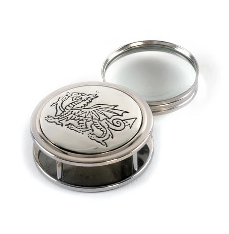 Welsh Dragon Pewter Desk Magnifier
