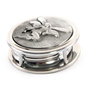 Art Nouveau Fairy Pewter Desk Magnifier Thumbnail 2
