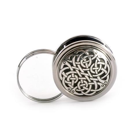 Celtic Never Ending Knot Pewter Desk Magnifier