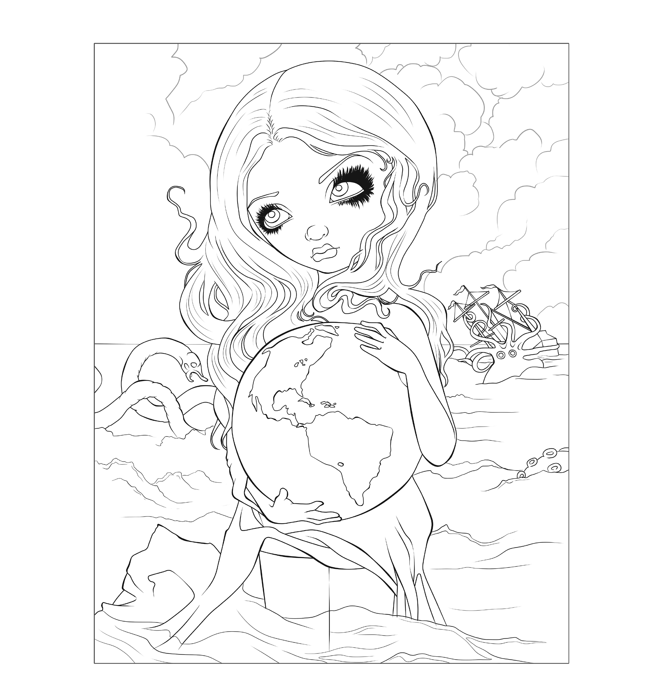 Jasmine Becket Griffith Colouring Book 9781922161871