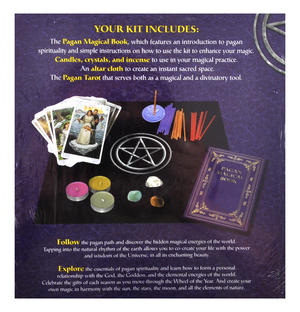 Pagan Magical Kit - Candles, Crystals, Alter, Incense & Tarot Thumbnail 2