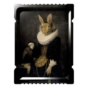 Zhao - Galerie De Portraits - Grand Format - Surreal Wall Tray Art Masterwork by iBride Thumbnail 1