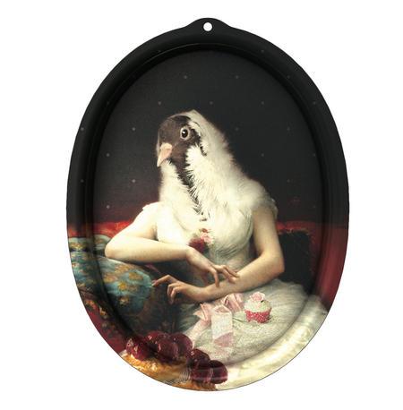 Rosita - Le Boudoir - Galerie De Portraits - Surreal Wall Tray Art Masterwork by iBride