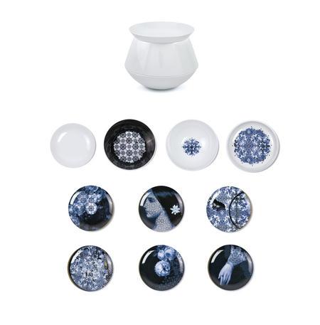 Luso Vase - Set of 4 Bowls & 6 Plates - Art & Design Masterwork by iBride