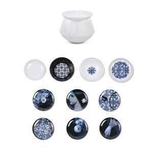Luso Vase - Set of 4 Bowls & 6 Plates - Art & Design Masterwork by iBride Thumbnail 1