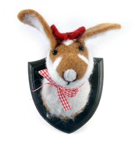 Lady Rabbit Trophy Wall Plaque