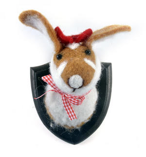 Lady Rabbit Trophy Wall Plaque Thumbnail 1