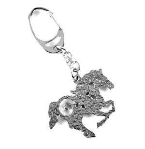 Galloping Horse Pewter Keyring Thumbnail 2