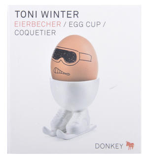 Toni Winter Egg - Skiing Egg Cup Thumbnail 3