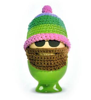 Funky Eggs Hipster Eggster Egg Cosy - Egg Beard Egg Warmer Thumbnail 1