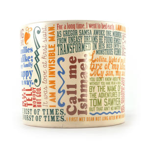 Greatest First Lines of Literature Ever Mug - Kerouac, Gatsby, Lolita, Salinger, Dickens etc Thumbnail 2