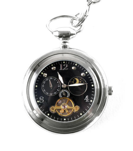 Black Face Sun And Moon Pocket Watch