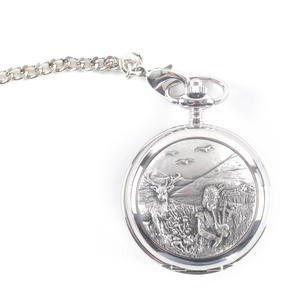 Bagpiper & Stag Highland Scene Pocket Watch Thumbnail 4