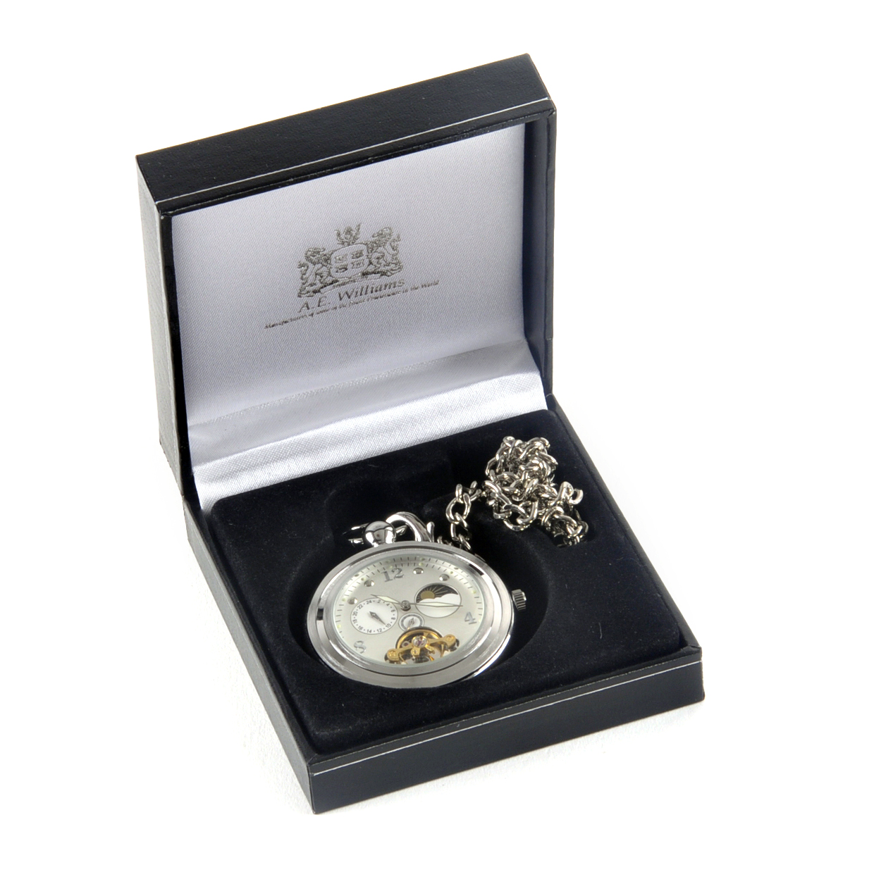 White Face Sun And Moon Pocket Watch   Pink Cat Shop