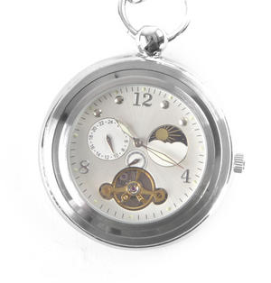 White Face Sun And Moon Pocket Watch Thumbnail 4