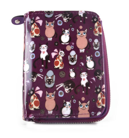 Purple Cat-tastic - Cats Medium Purse