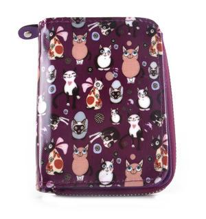 Purple Cat-tastic - Cats Medium Purse Thumbnail 1