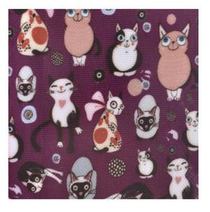 Purple Cat-tastic - Cats Medium Purse Thumbnail 4