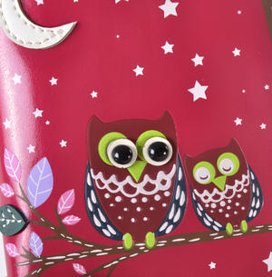 Fuchsia Sleeping Owls Medium Purse Thumbnail 5