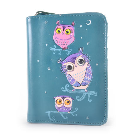 Blue Pretty Owls Medium Purse
