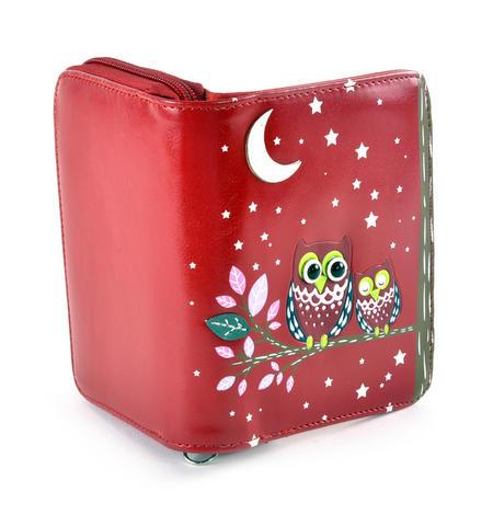 Red Sleeping Owls Medium Purse