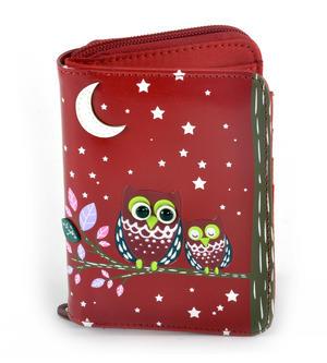 Red Sleeping Owls Medium Purse Thumbnail 3