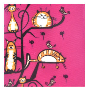 Fuchsia Cats in a Tree Long Purse Thumbnail 4