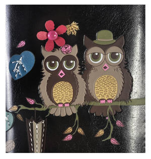 Black Mr & Mrs Owl in a Tree Long Purse Thumbnail 5