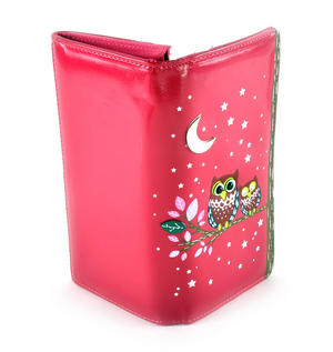 Fuchsia Sleeping Owls Long Purse Thumbnail 3
