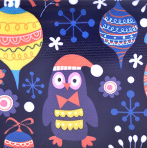 Dark Blue Fox & Owl Friends Long Purse Thumbnail 3
