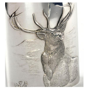 Stag Scottish Highlands 6oz Hip Flask Presentation Box Set with Funnel Thumbnail 2