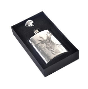 Stag Scottish Highlands 6oz Hip Flask Presentation Box Set with Funnel Thumbnail 5
