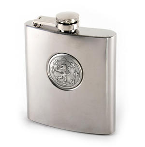 Scottish Royal Standard Lion 6oz Hip Flask Presentation Box Set with Funnel & Two Shot Cups Thumbnail 5