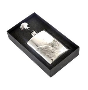 Leaping Salmon Angler's 6oz Hip Flask Presentation Box Set with Funnel Thumbnail 4