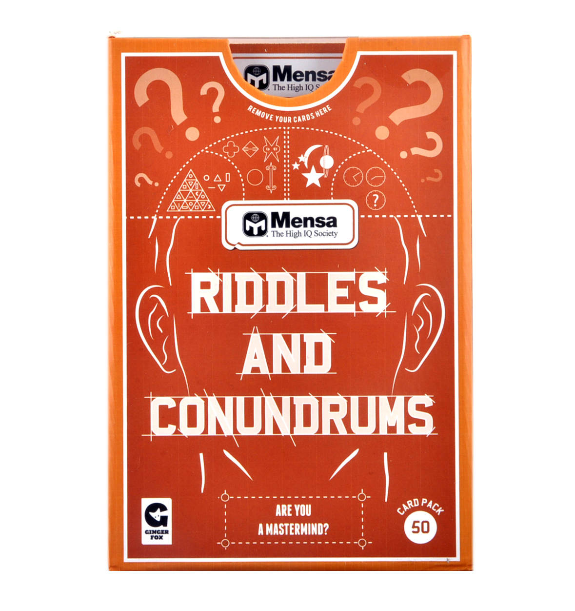 Mensa Riddles And Conundrums Game Pink Cat Shop