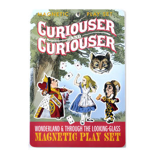 Curiouser and Curiouser - Alice In Wonderland & Through the Looking Glass Fridge Magnet / Magnetic Play Set Thumbnail 1