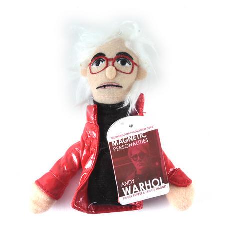 Andy Warhol Finger Puppet & Fridge Magnet