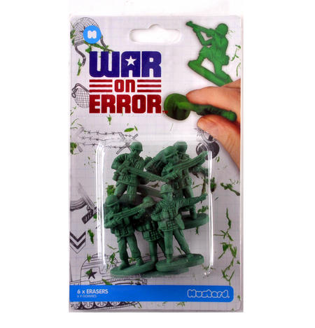 War on Error Erasers - Soldier Rubber Set