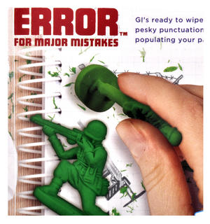 War on Error Erasers - Soldier Rubber Set Thumbnail 3