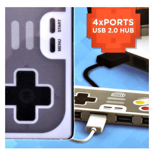 PLAY HUB 4 Port Super Hub USB 2.0 Hub Windows & Mac Thumbnail 2