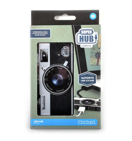 Camera 4 Port Super Hub USB 2.0 Hub Windows & Mac