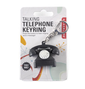 Talking Telephone Keyring - With Ring & Message Thumbnail 1
