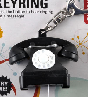 Talking Telephone Keyring - With Ring & Message Thumbnail 2