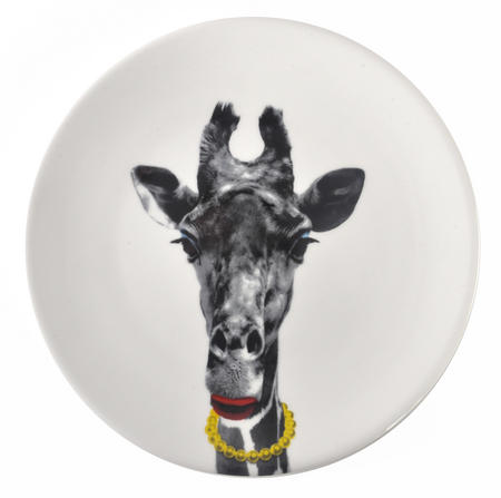 Gina Giraffe - Wild Dining 23cm Porcelain Party Animal Plate