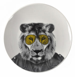 Larry Lion - Wild Dining 23cm Porcelain Party Animal Plate Thumbnail 1