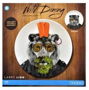 Larry Lion - Wild Dining 23cm Porcelain Party Animal Plate Thumbnail 2