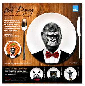 Gary Gorilla - Wild Dining 23cm Porcelain Party Animal Plate Thumbnail 3