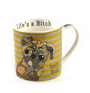 Spoilt Bitch - Life's a Bitch Mug by Casey Rodgers Thumbnail 1