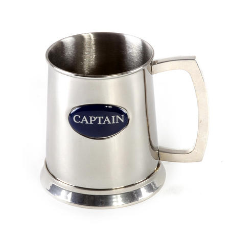 Captain Tankard in Heavy Polished Stainless Steel